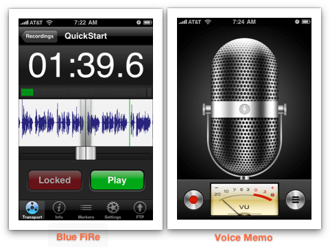 The Best Free Audio Recorder For The iPhone bfire10