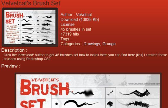 6 Best Sites To Download Free Photoshop Brushes brushking2