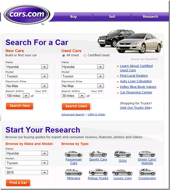 where can i research or buy a new car