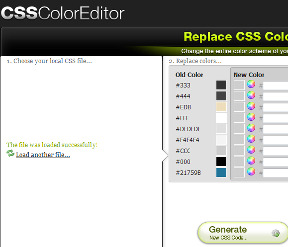 change css color