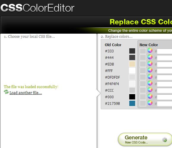 change css color