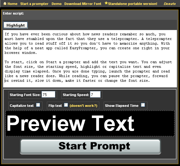 free teleprompter software