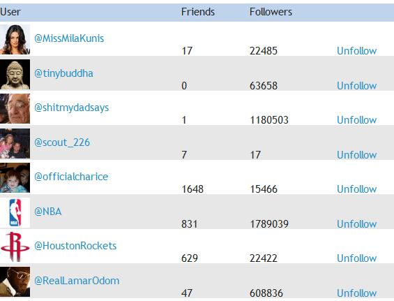 unfollow twitter users