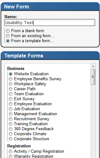 creating html forms