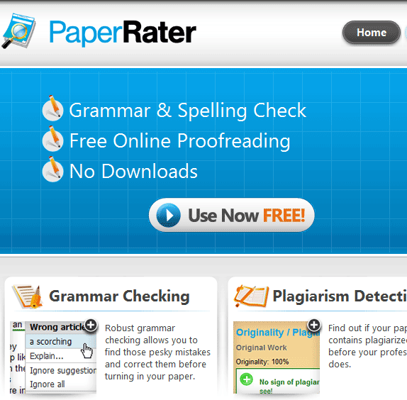 check your paper for plagiarism