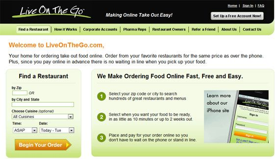 list of online food order restaurants