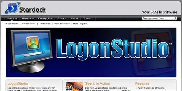 custom logon screen