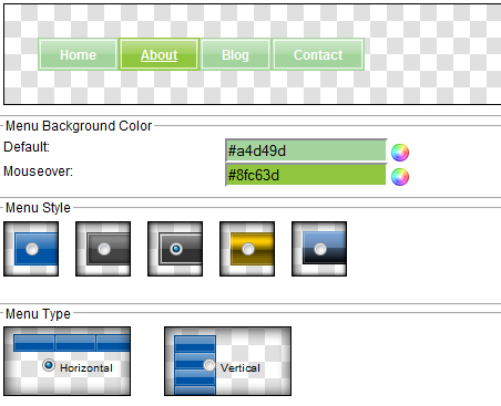 navigation menu generator