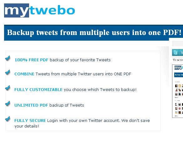 tweets to pdf