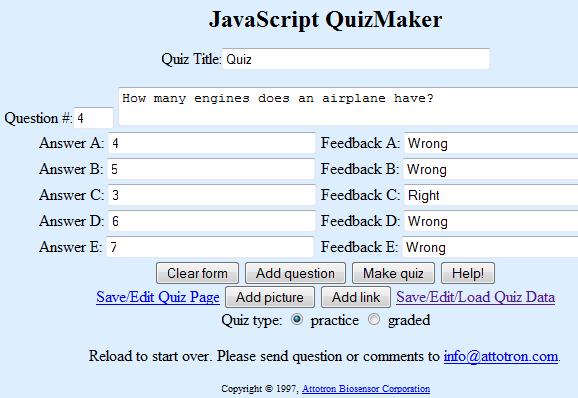 online quiz generator