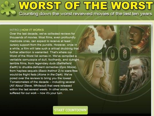 10 worst movies of all time