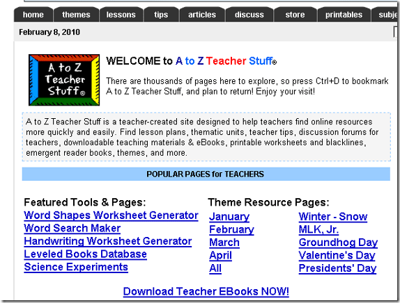 download teaching resources