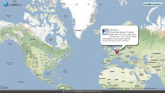 3 Cool Twitter & Google Maps Mashups You Should Check Out twittervision