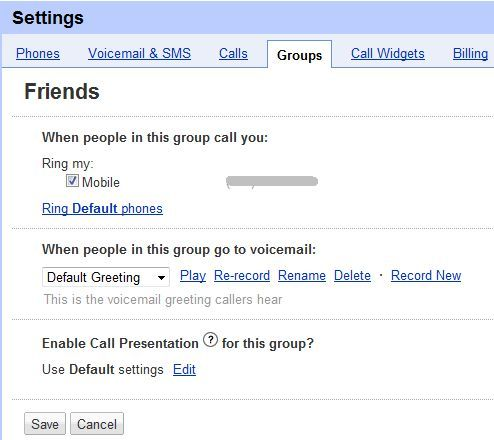 5 cool things you can do with google voice select what phone or phones should ring select or record a special greeting m4hsunfo