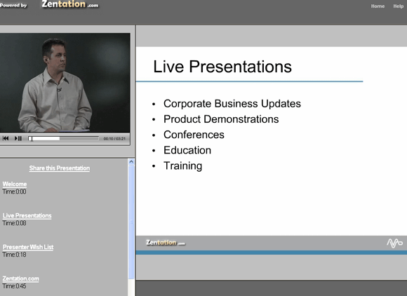 presentation with video