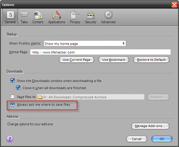 Download Files In Firefox & Autosave Them In The Right Folders Automatic Save01