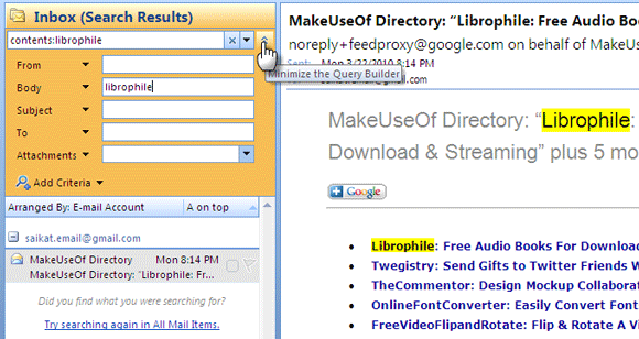 6 Ways To Search For Emails In Outlook 2007 Instant Search4