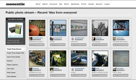 Top 4 Photo Websites To Share One Photo Everyday Momentile Browse