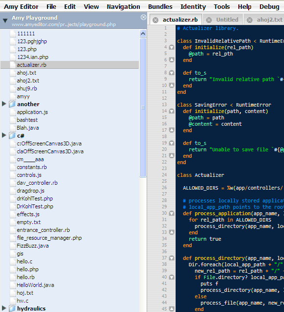 collaborative code editing