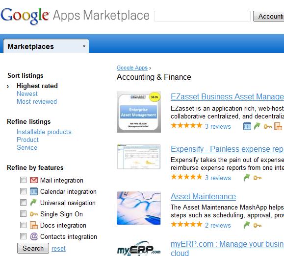 google apps marketplace