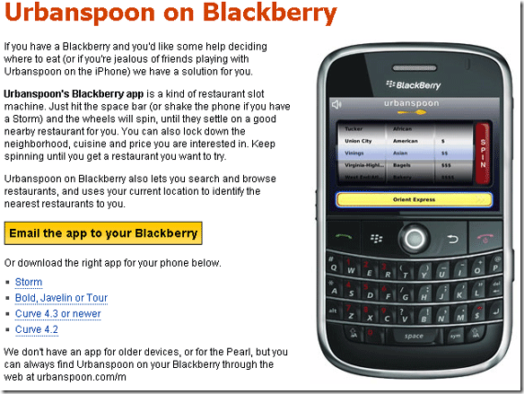 blackberry storm applications