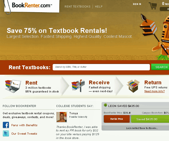 renting college books online