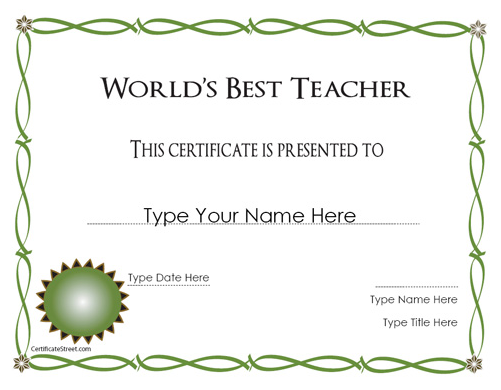 cer0   CertificateStreet: Get Free Printable Award Certificates