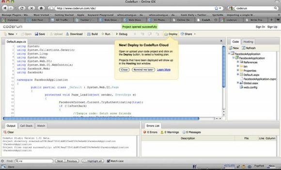 browser based ide