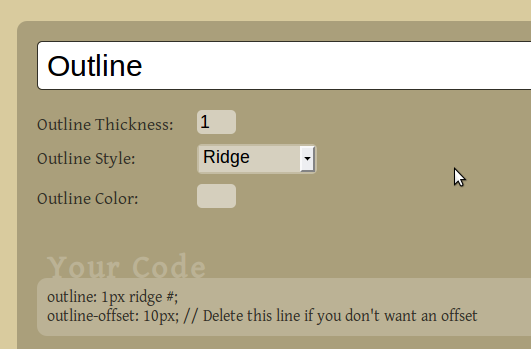 CSS3 Generator: A Quick Reference For Creating CSS3 Tidbits css3generator
