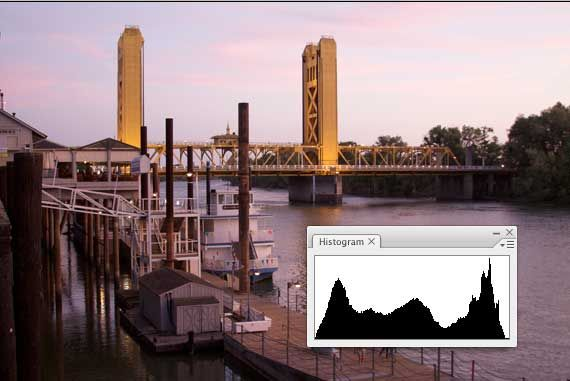 how to read camera histogram