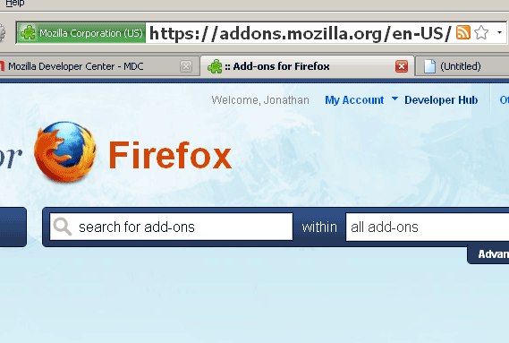 firefox address bar font size
