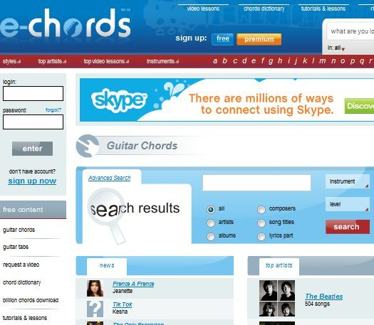 4 Awesome Websites To Find Guitar Chords For Songs