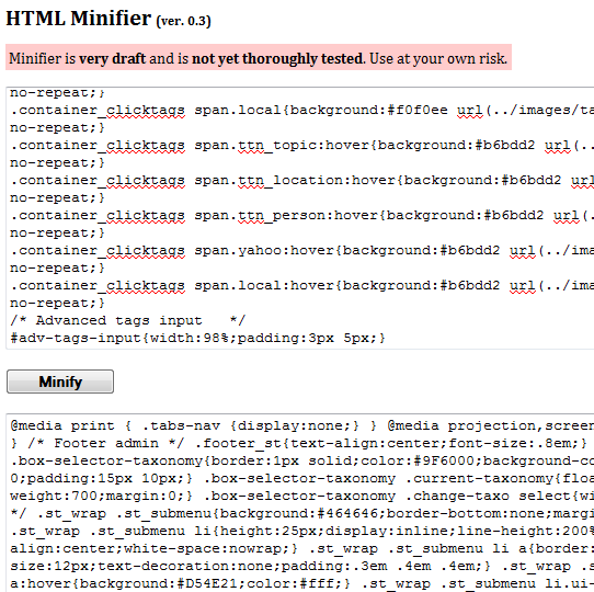 compress html code
