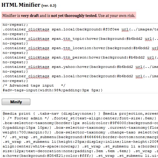 compress html code