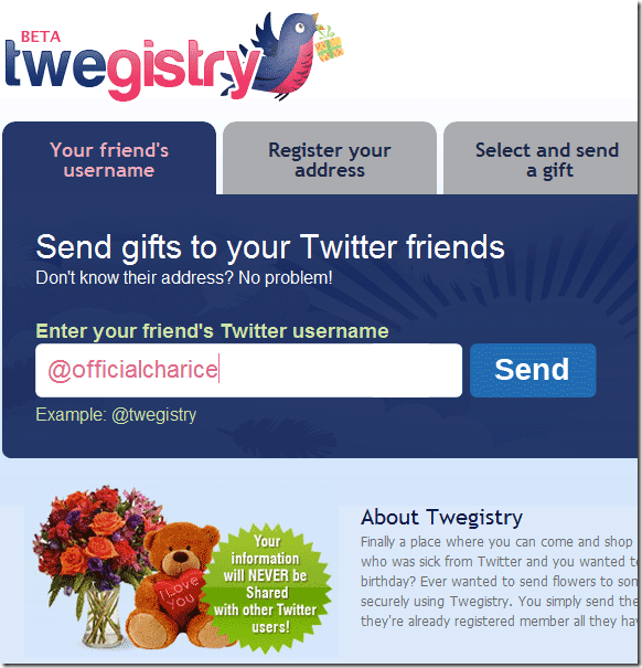 Twegistry Acts As A Bridge So You Can Send And Receive Gifts Using Twitter