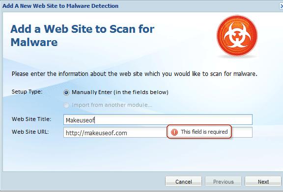 scan website for malware
