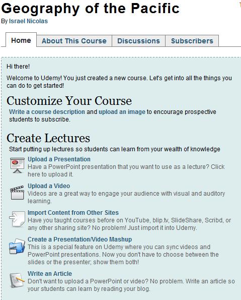 create online courses