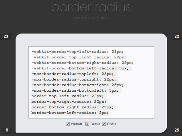 css curved borders