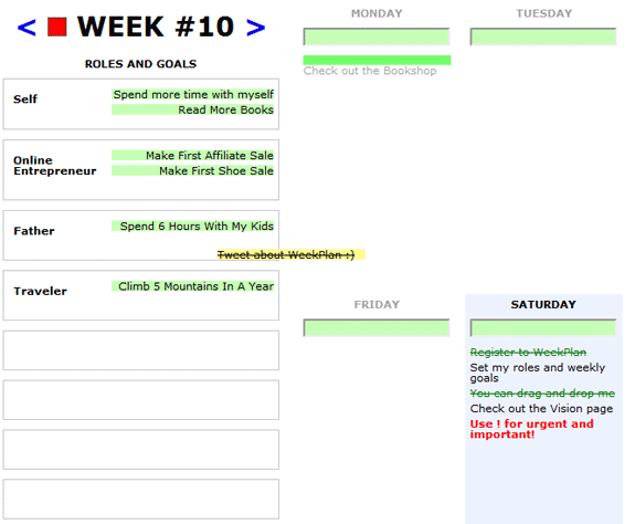 image thumb81   WeekPlan: Weekly Task Planner With Goals In Mind