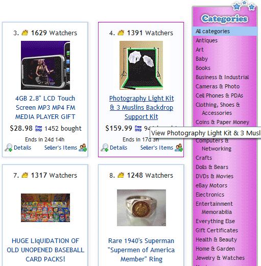 best items on ebay
