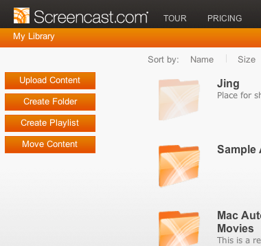 share screencasts