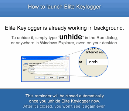 Elite Keylogger Instructions