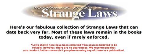 5 Websites With Strange & Unusual Facts laws