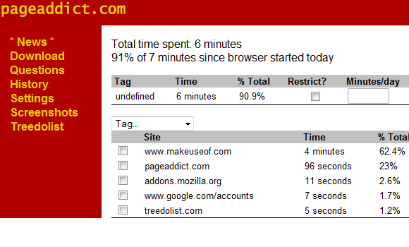 monitor time spent on websites