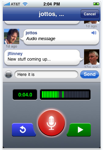 voice messenger for iphone