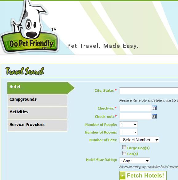 pet friendly travel
