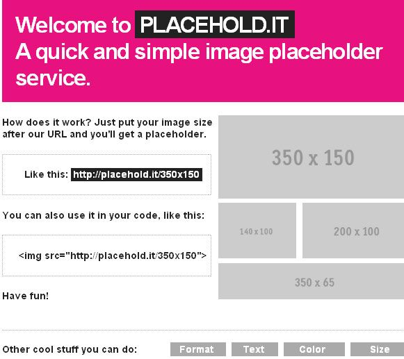 create image placeholder