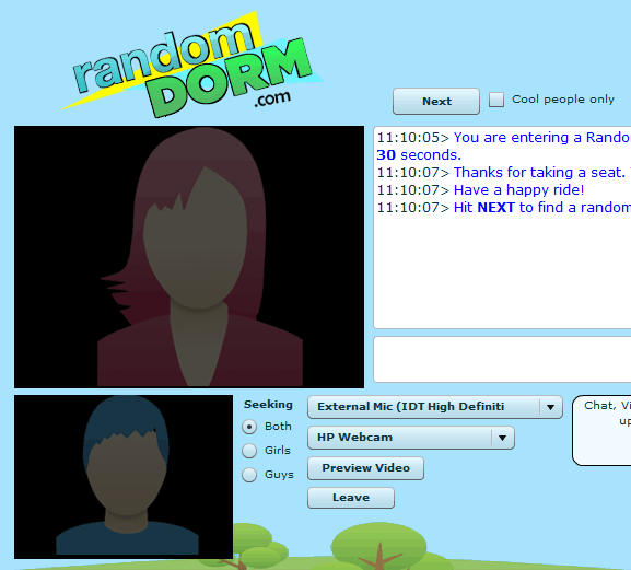 Random webcam chat rooms