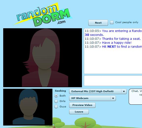 RandomDorm: Random Chat Rooms for College Student