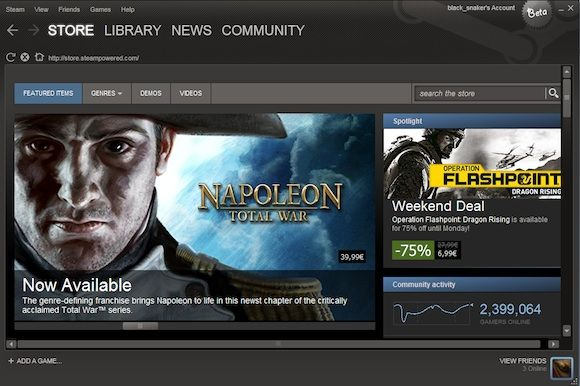 Steam Games Management and Online Store Gets A Redesign steam interface